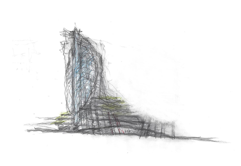 SOMA Towers Phase I Conceptual Sketch Bohlin Cywinski Jackson}
