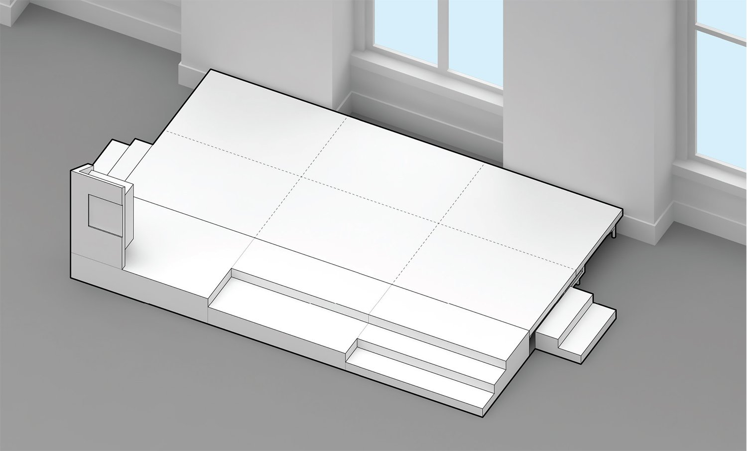 Stage configurations LTL Architects}