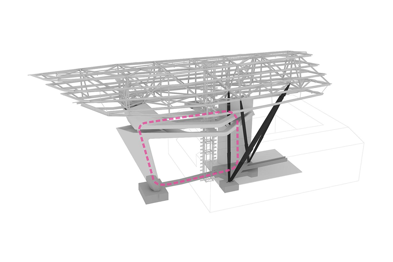 Structure Diagram Zaha Hadid Architects}