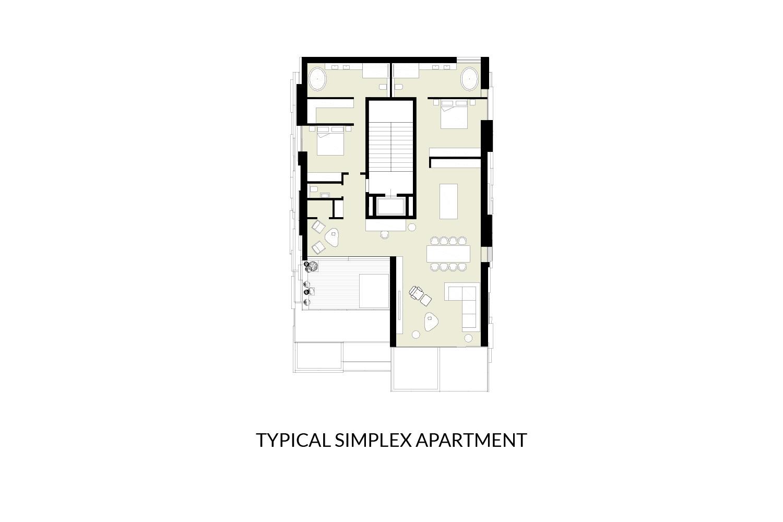 Simplex Floor Plan AVA}