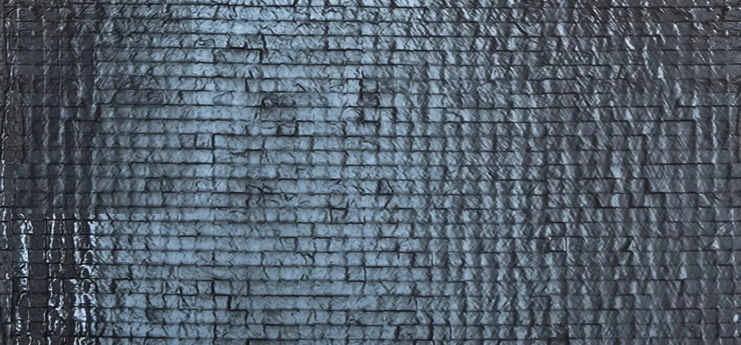 Wall Finish: Mosaic Stone Tiles }