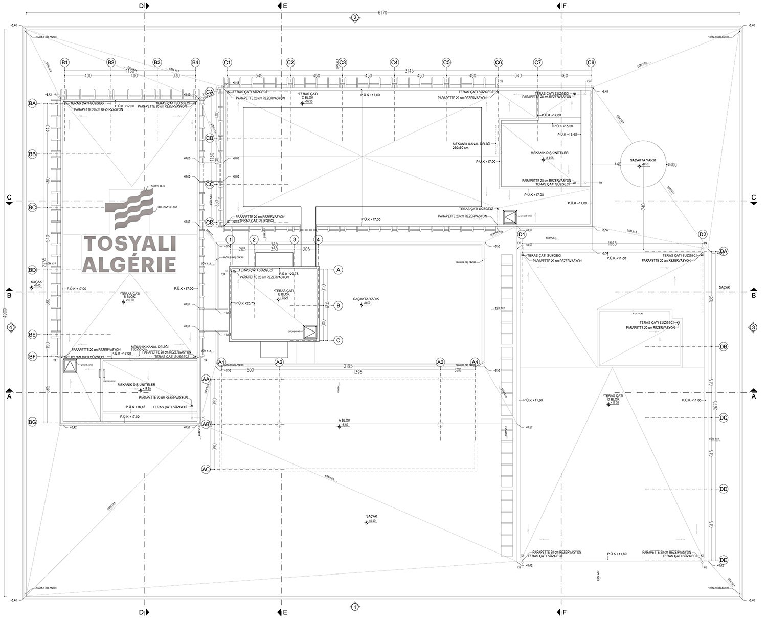 Tosyali Holding Company HQ's drawing }