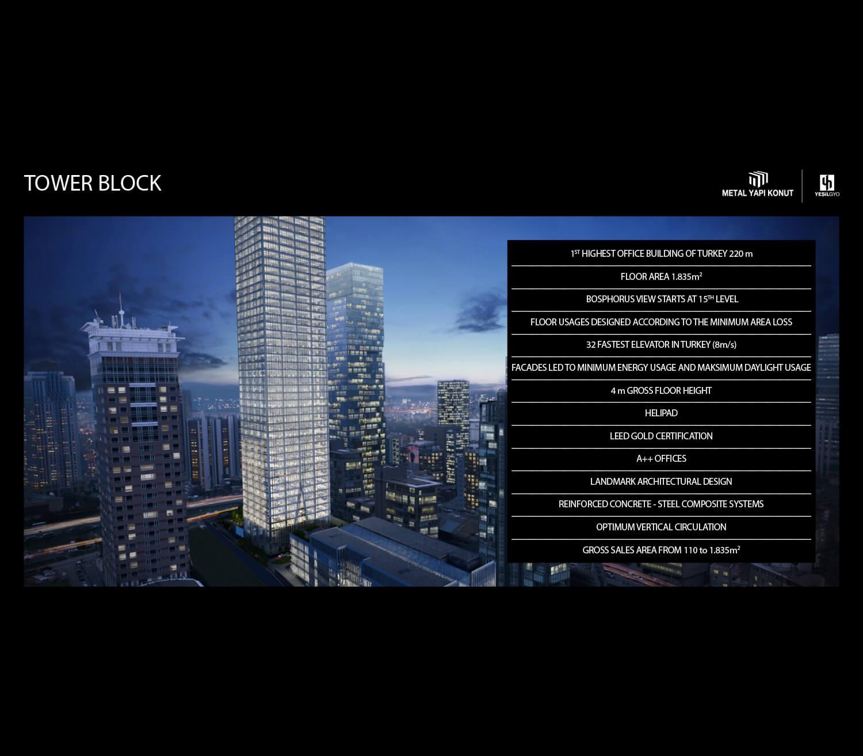 Tower Block Metal Yapi Konut}