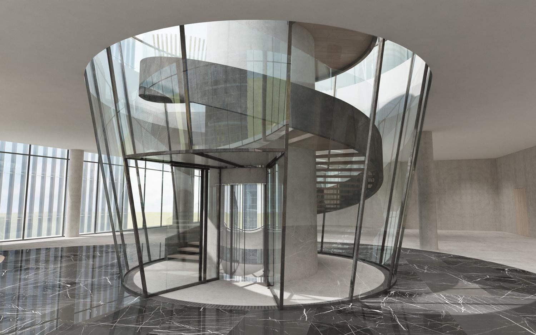 Roof top elevator duccio grassi architects}