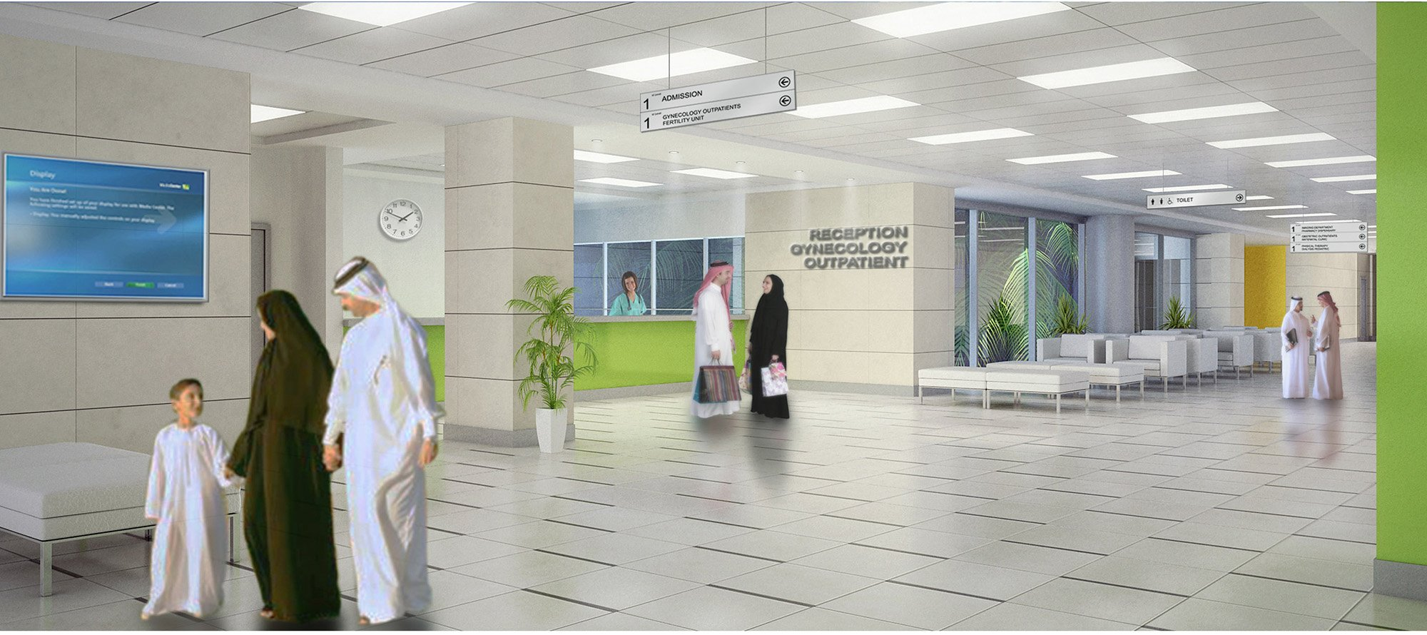 rendering interno hospital street }