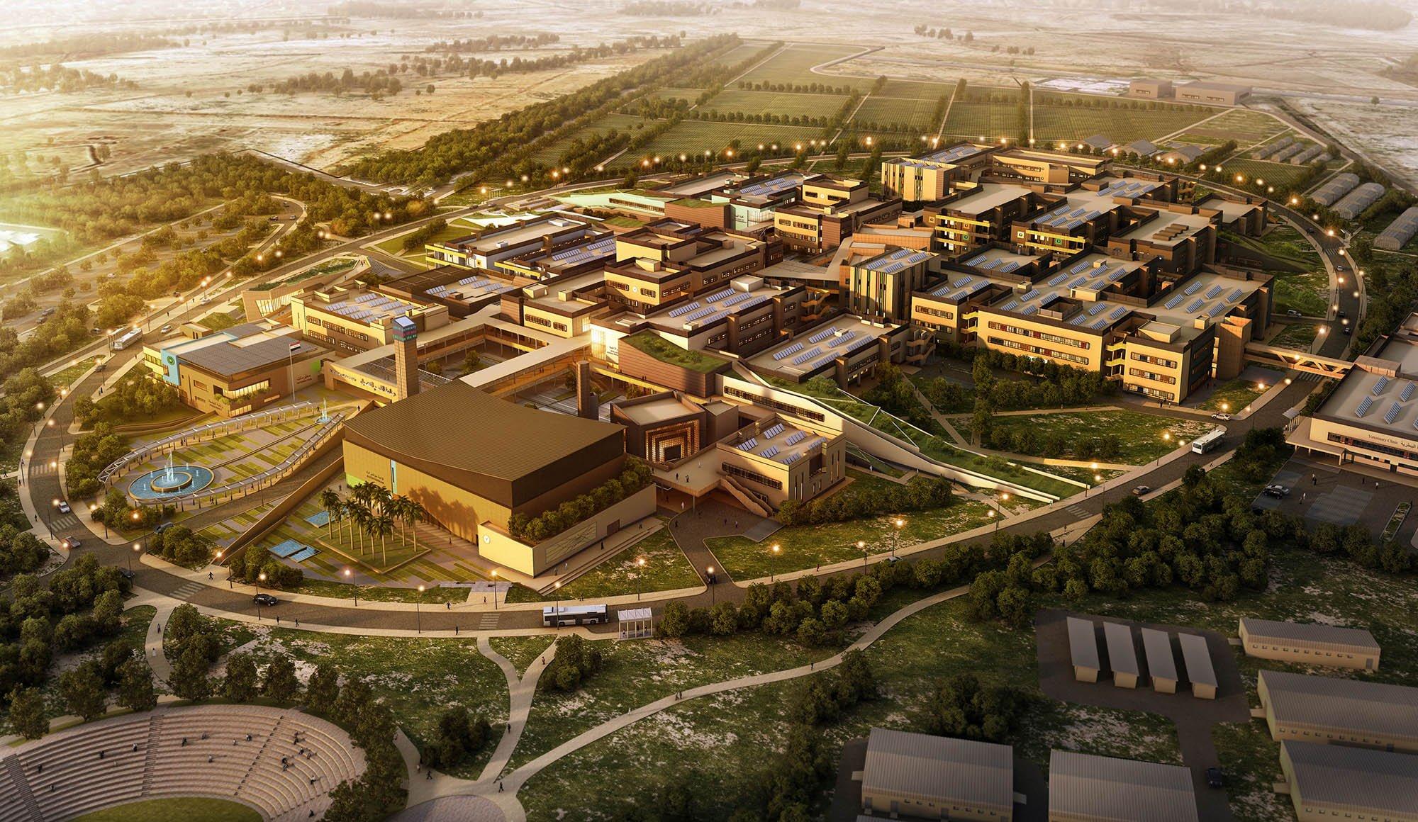 Vista aerea del campus
