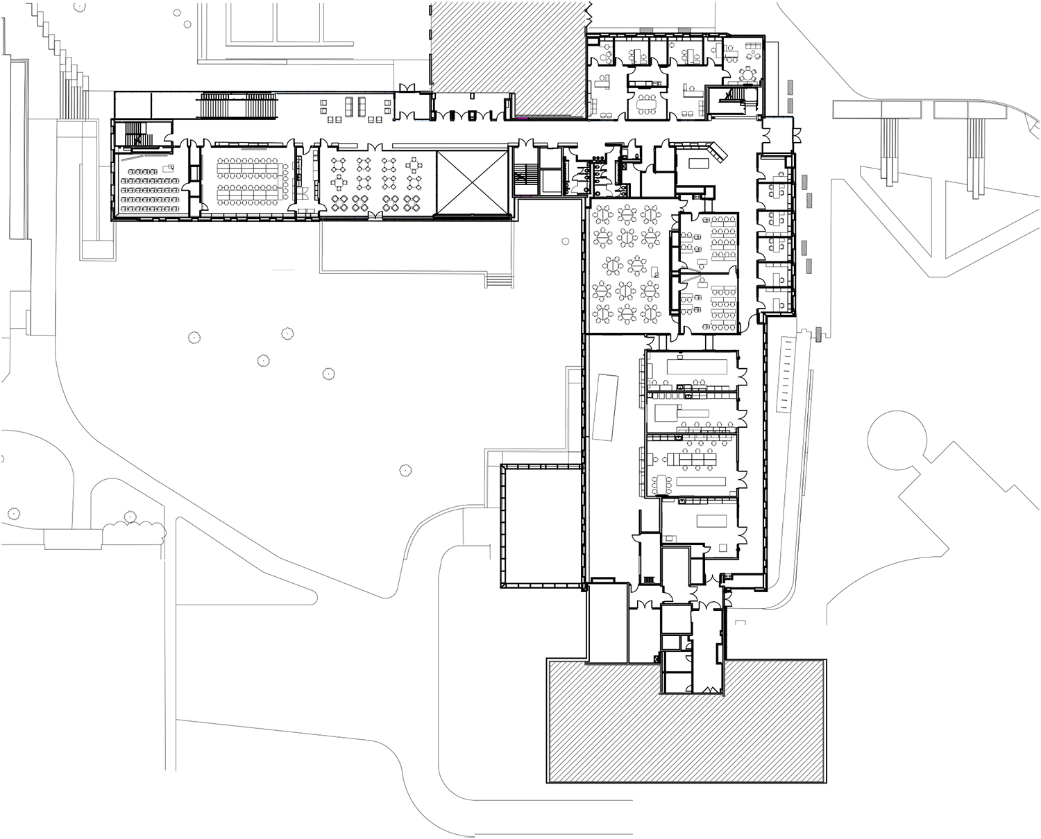 Cornell University Upson Hall: 1st Floor Plan LTL Architects}