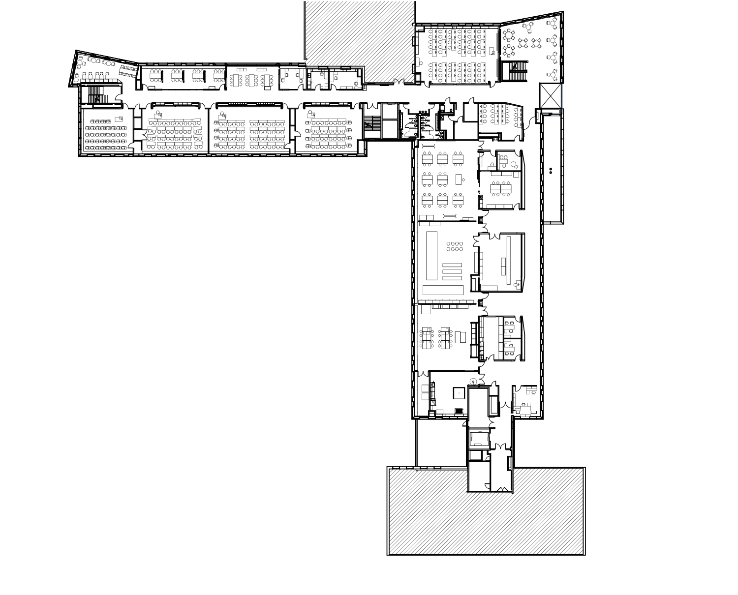 Cornell University Upson Hall: 2nd Floor Plan LTL Architects}