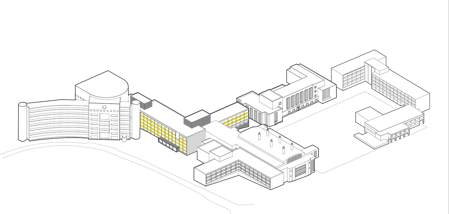 Cornell University Upson Hall: Axonometric Diagram - Before LTL Architects}