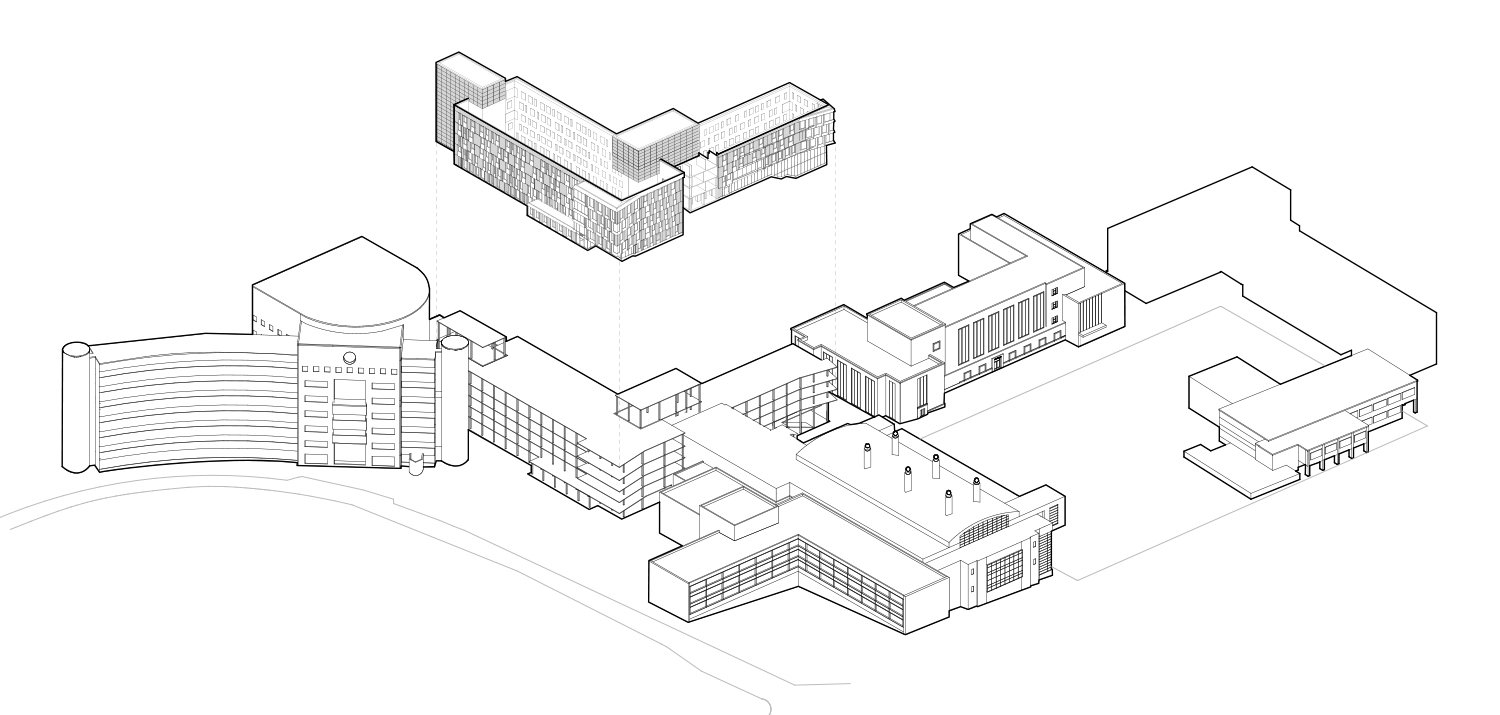 Cornell University Upson Hall: Axonometric Diagram - Highly Tuned Facade LTL Architects}