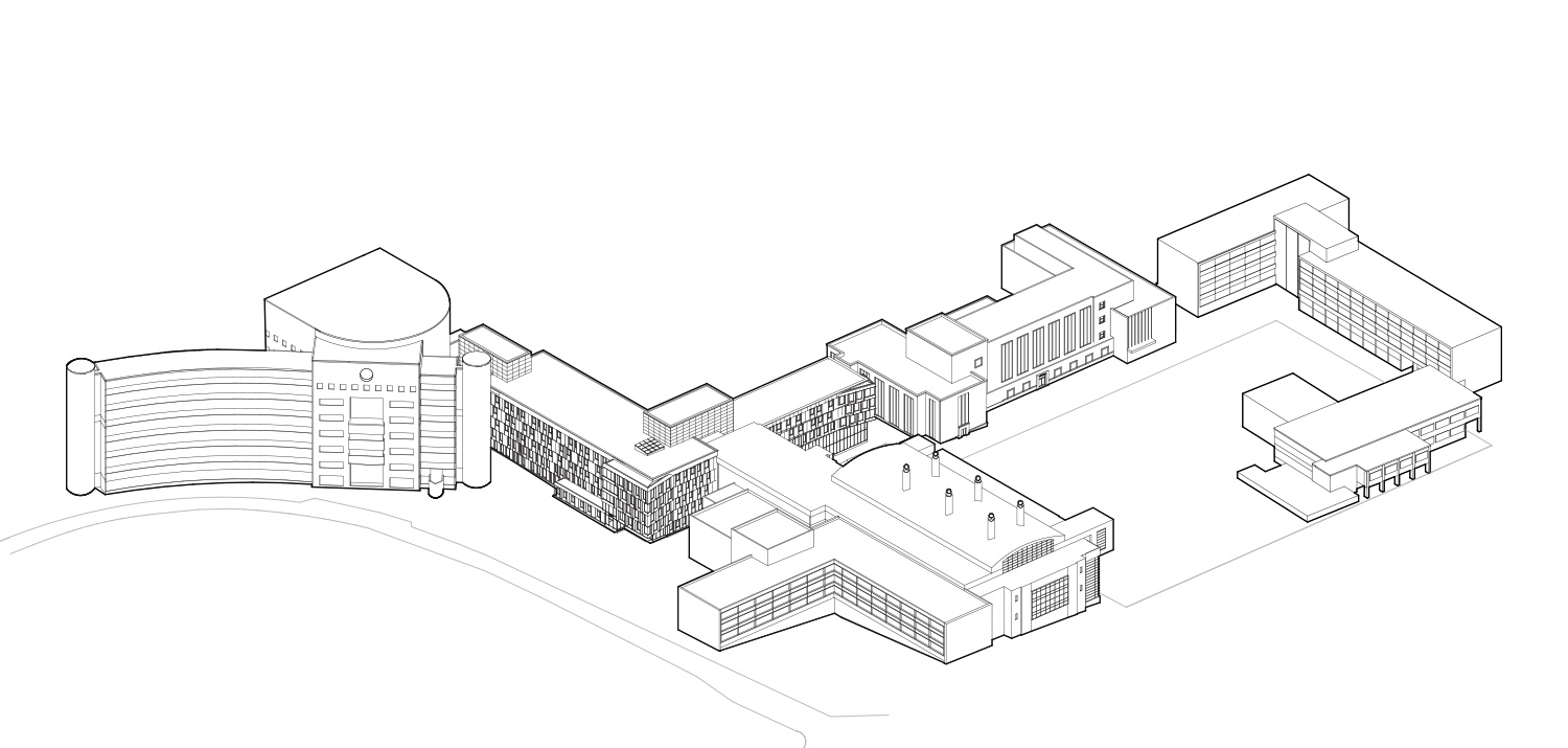 Cornell University Upson Hall: Axonometric Diagram - Transformation Complete LTL Architects}