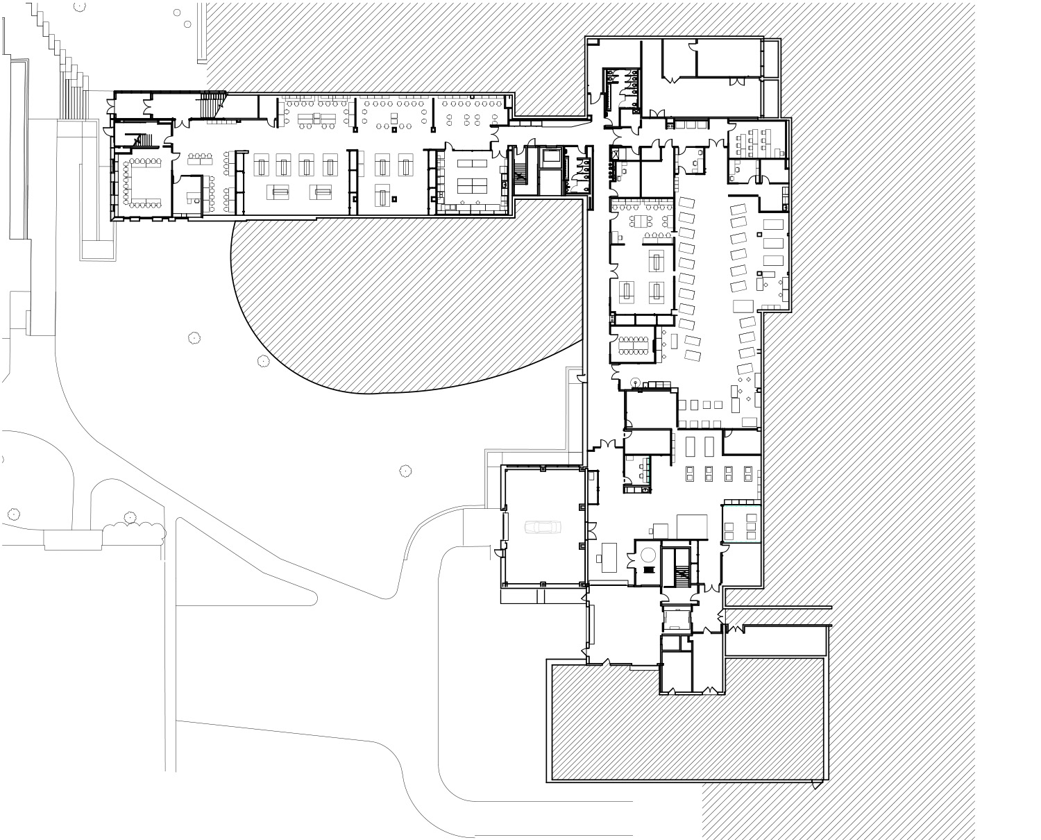 Cornell University Upson Hall: Basement Floor Plan LTL Architects}