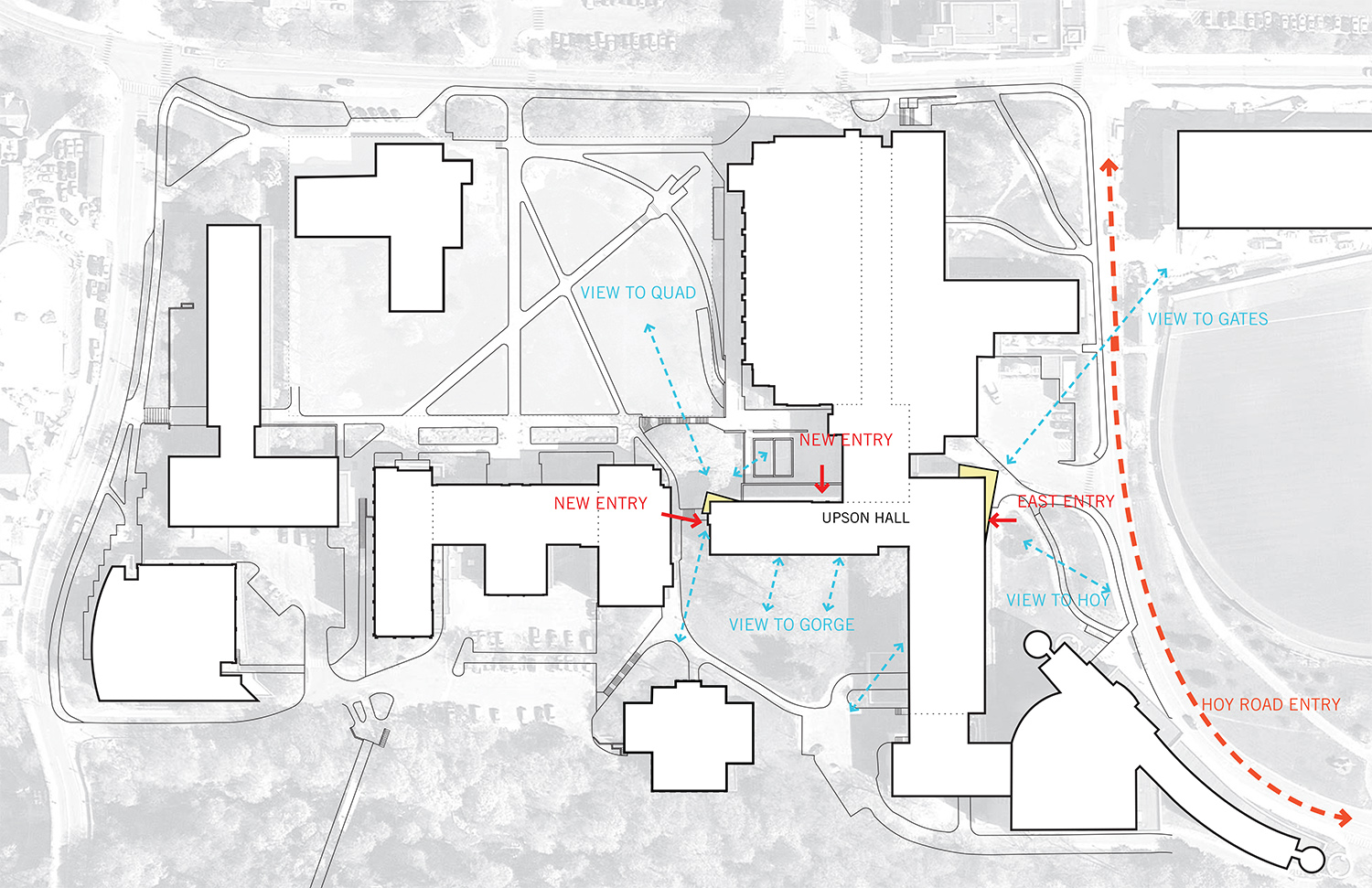 Cornell University Upson Hall: Site Diagram LTL Architects}