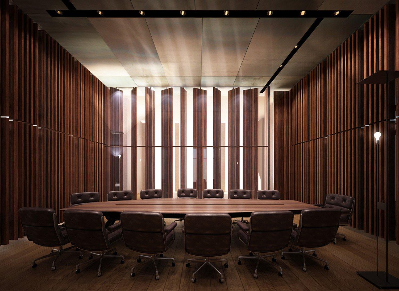 Render sala conferenze Berarducci Architecture}