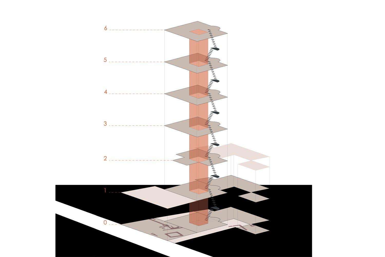 schema nuovo nucleo portante e nuova modulazione solai }