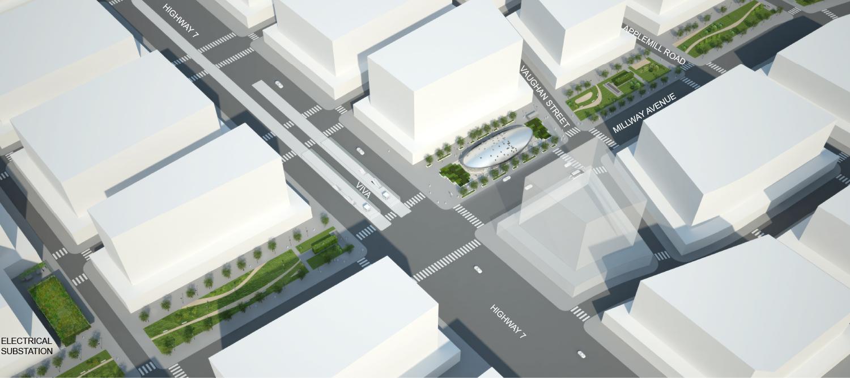 Aerial View Rendering - Future Development Grimshaw}