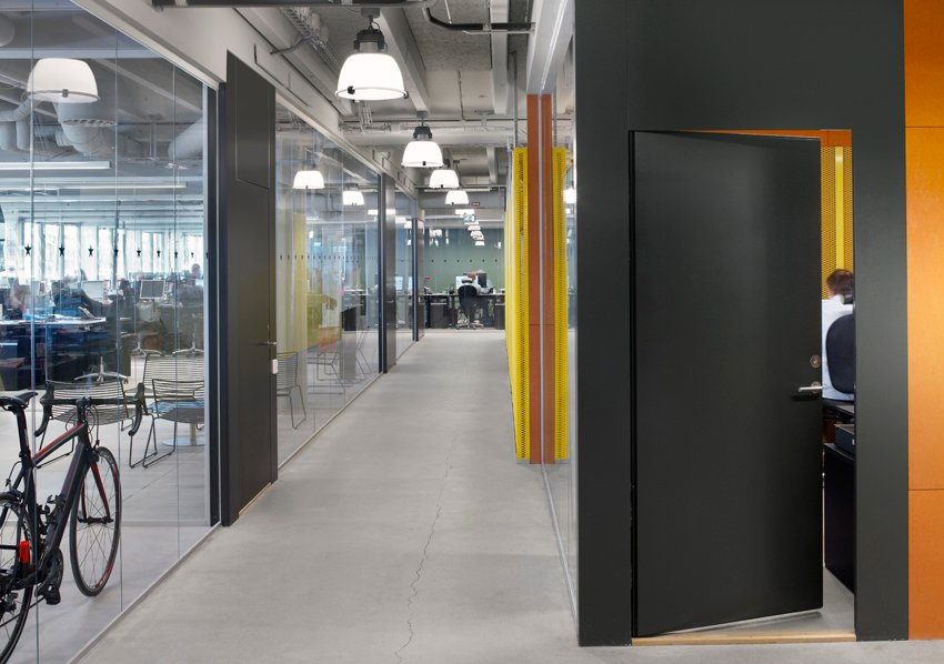 A variation of visual and physical connections adds to the complexity of the Office