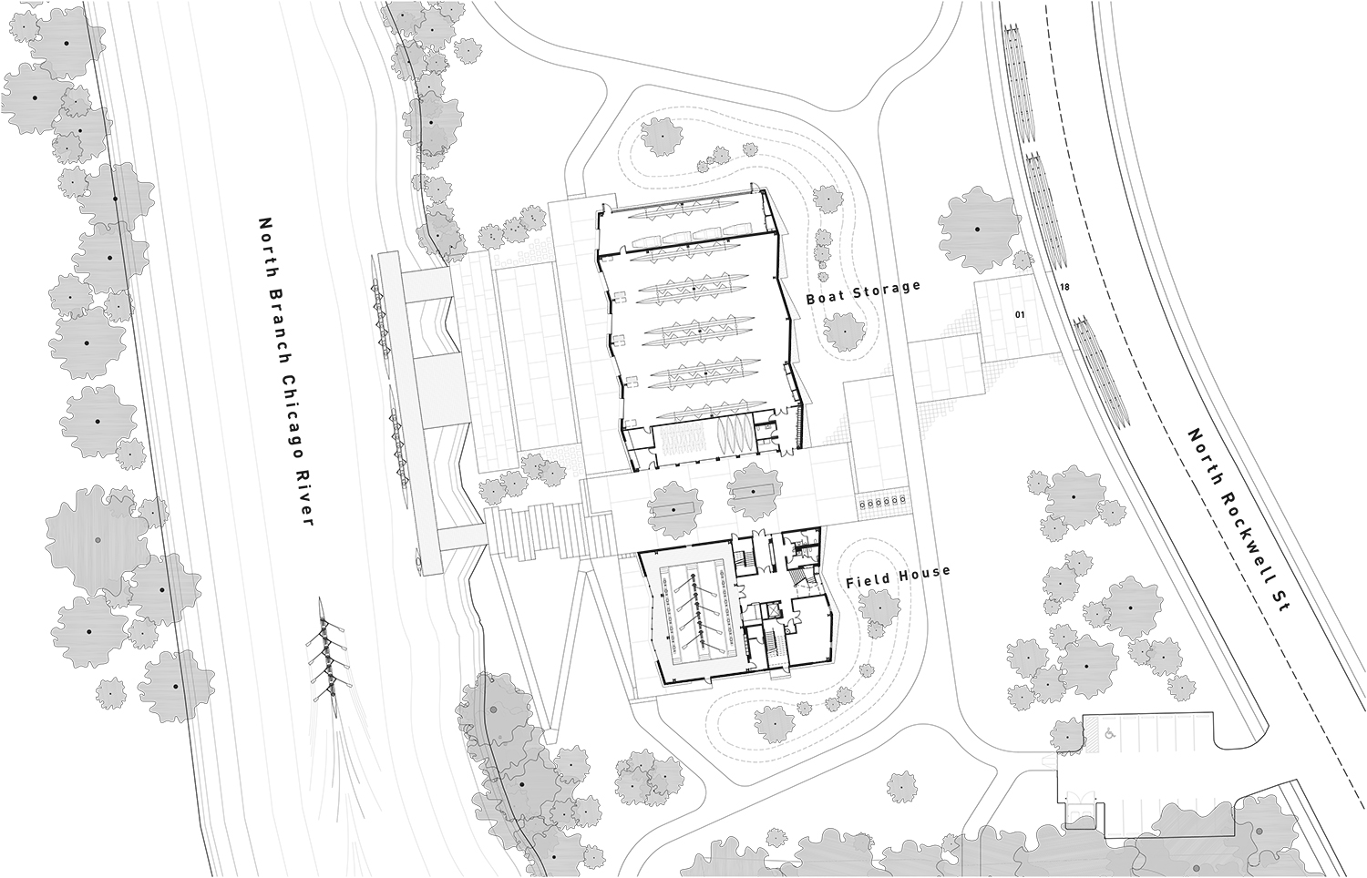 WMS Boathouse Site and Ground Plan }