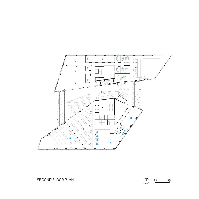 Tata Innovation Center Second Floor Floorplan Weiss/Manfredi}