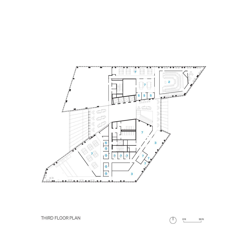 Tata Innovation Center Third Floor Floorplan Weiss/Manfredi}