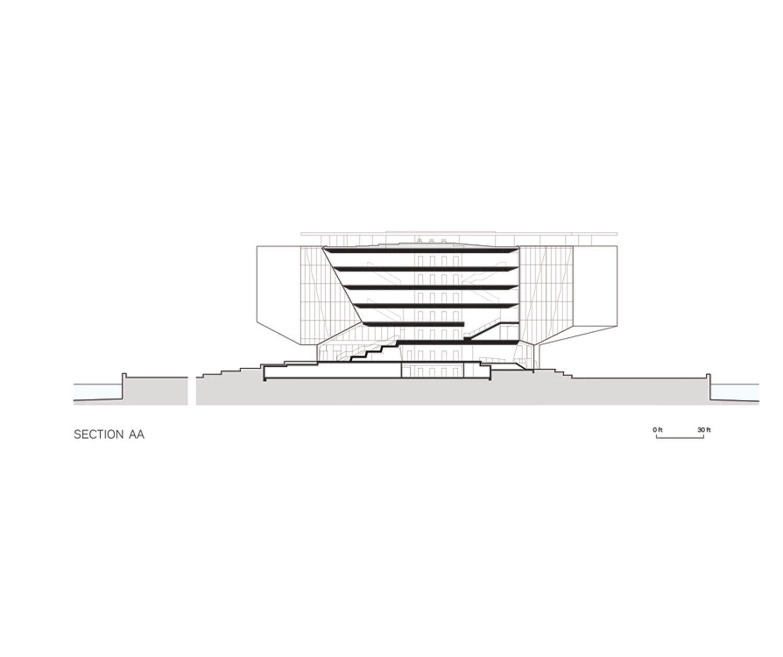 Tata Innovation Center elevation. Weiss/Manfredi}