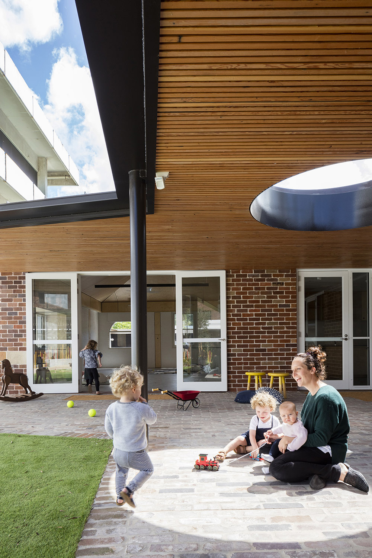 External verandahs provide extension to the formal playrooms Brett Boardman