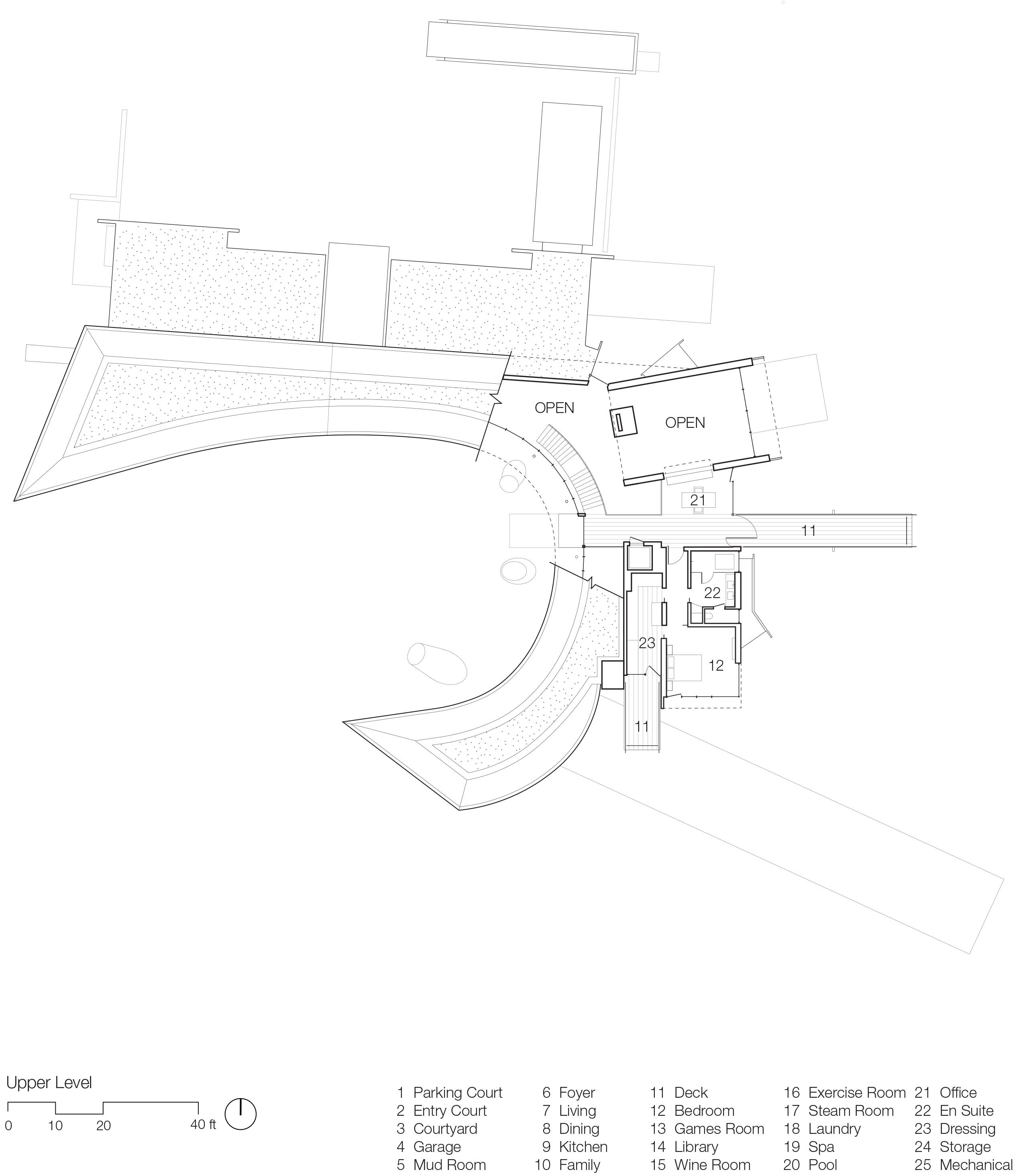 Upper Level Floor Plan }