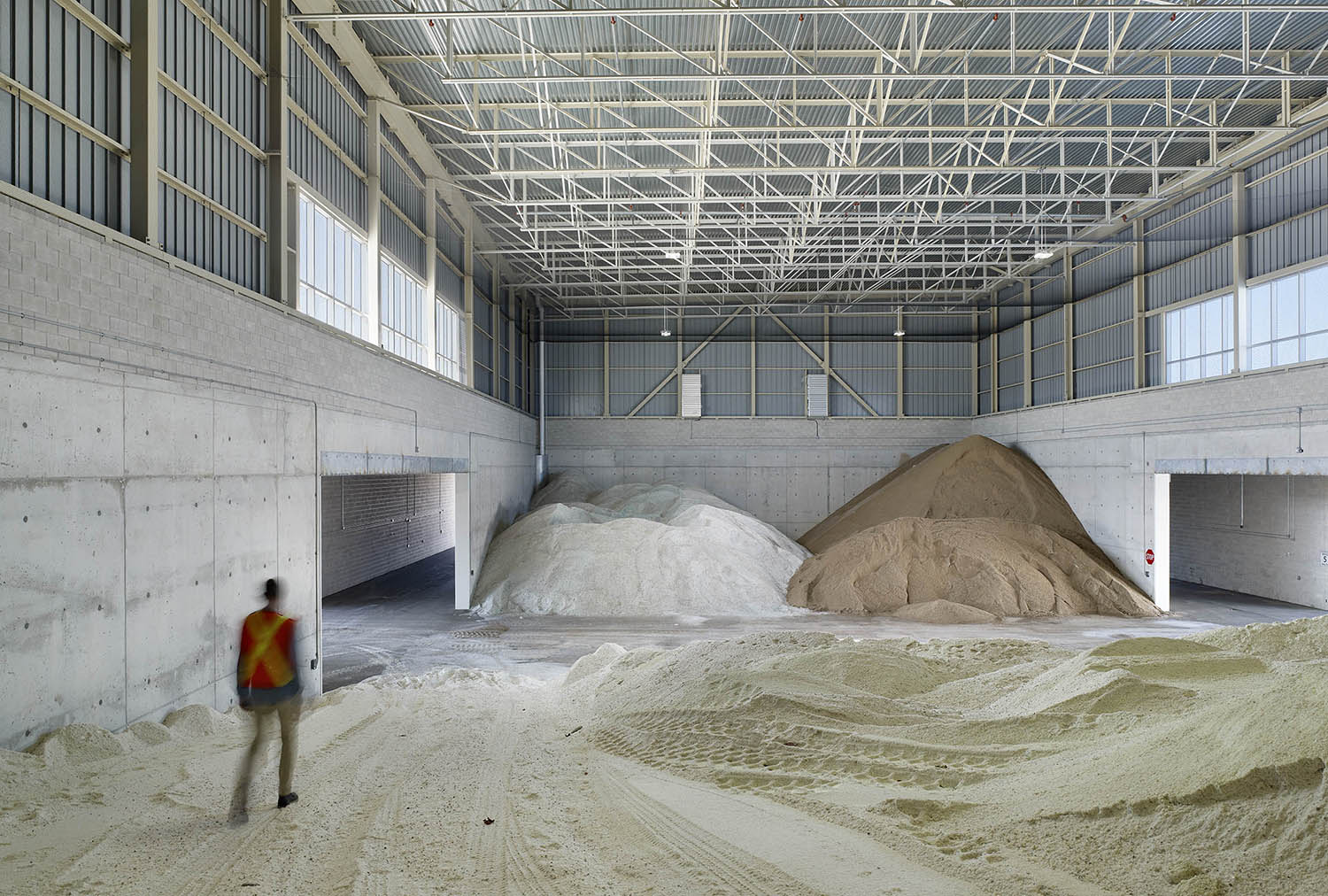 Salt and sand storage building Tom Arban