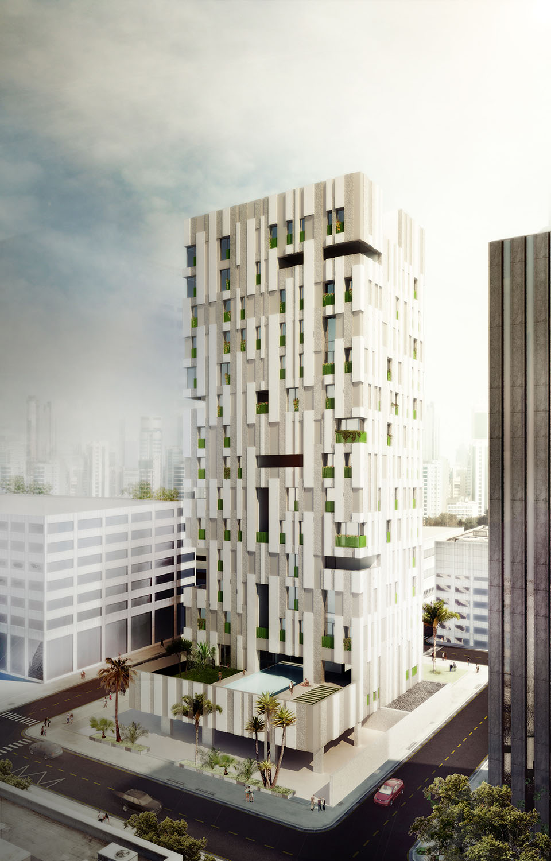 Render Exterior view AGi architects}