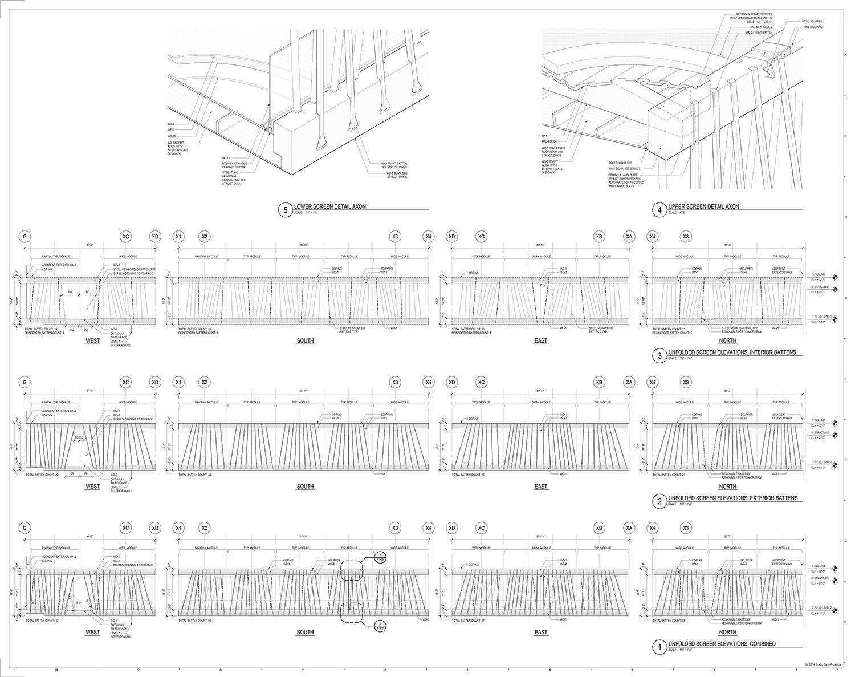 Canopy Walk Screen Elevations }
