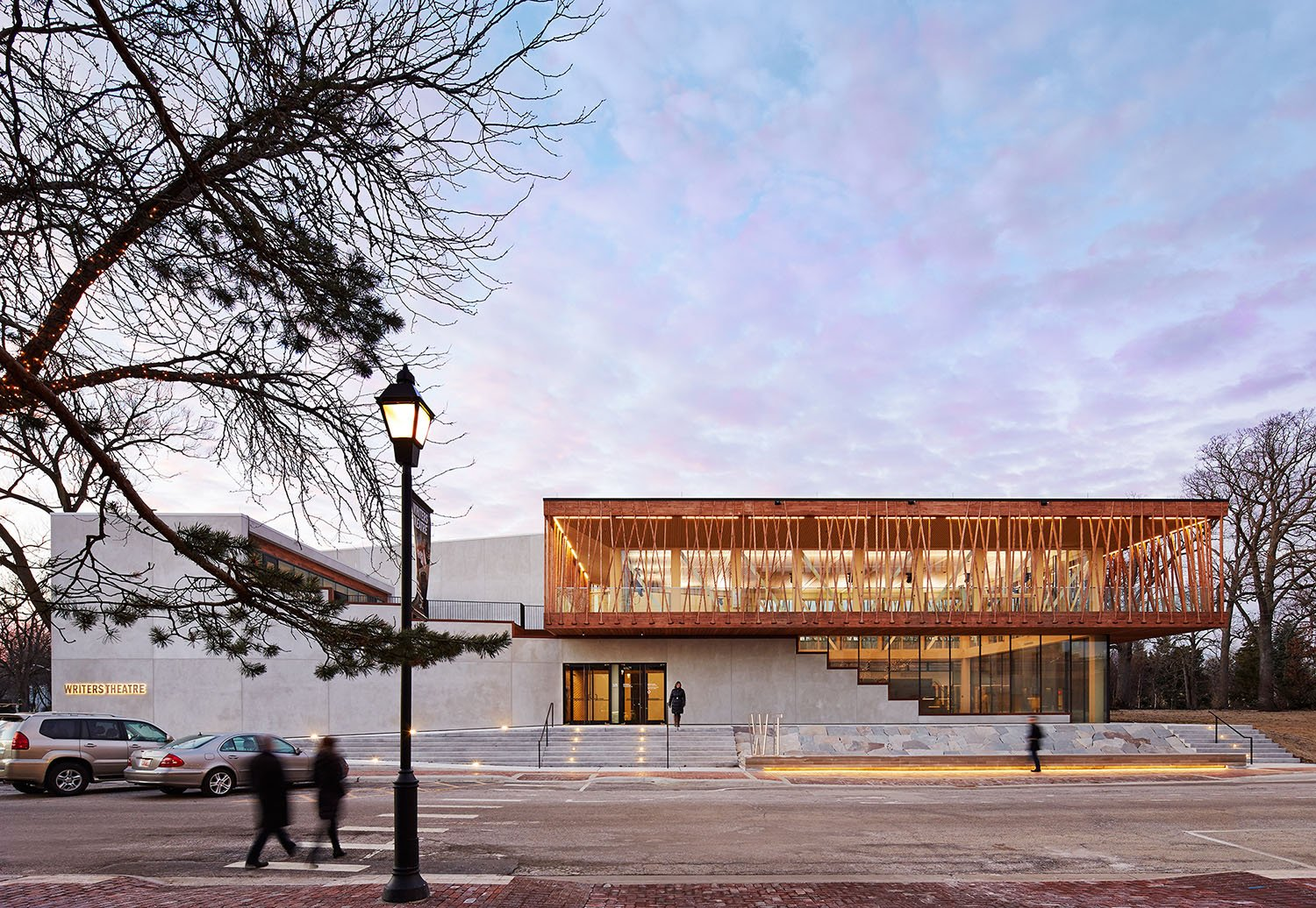 The design for Writers Theatre in Glencoe, Illinois, USA, creates exciting spaces that energize the daily life of its community.