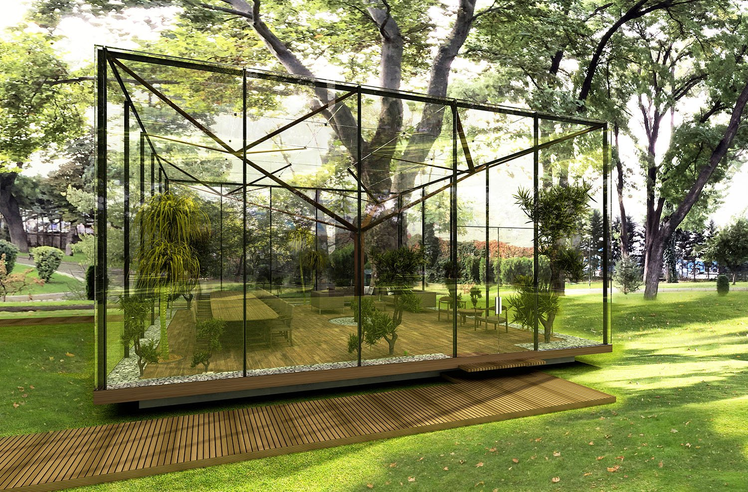 GLASS PAVILION - 01 YAZGAN DESIGN ARCHITECTURE