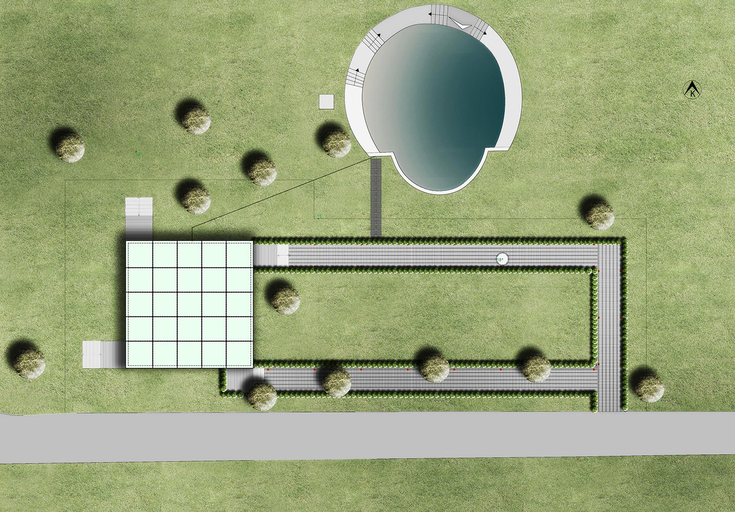 GLASS PAVILION - SITE PLAN YAZGAN DESIGN ARCHITECTURE}