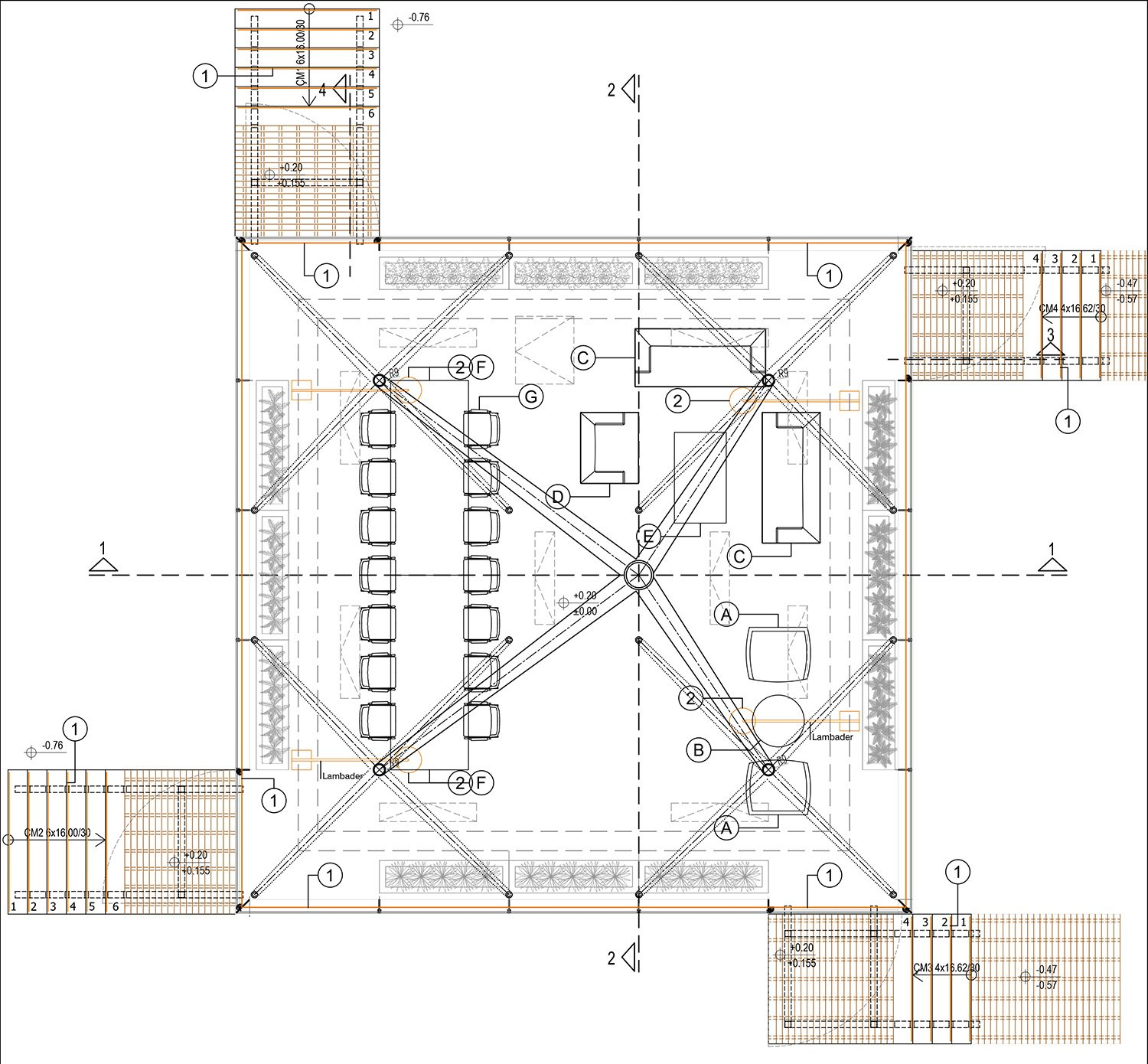 GLASS PAVILION - GROUND FLOOR PLAN YAZGAN DESIGN ARCHITECTURE}