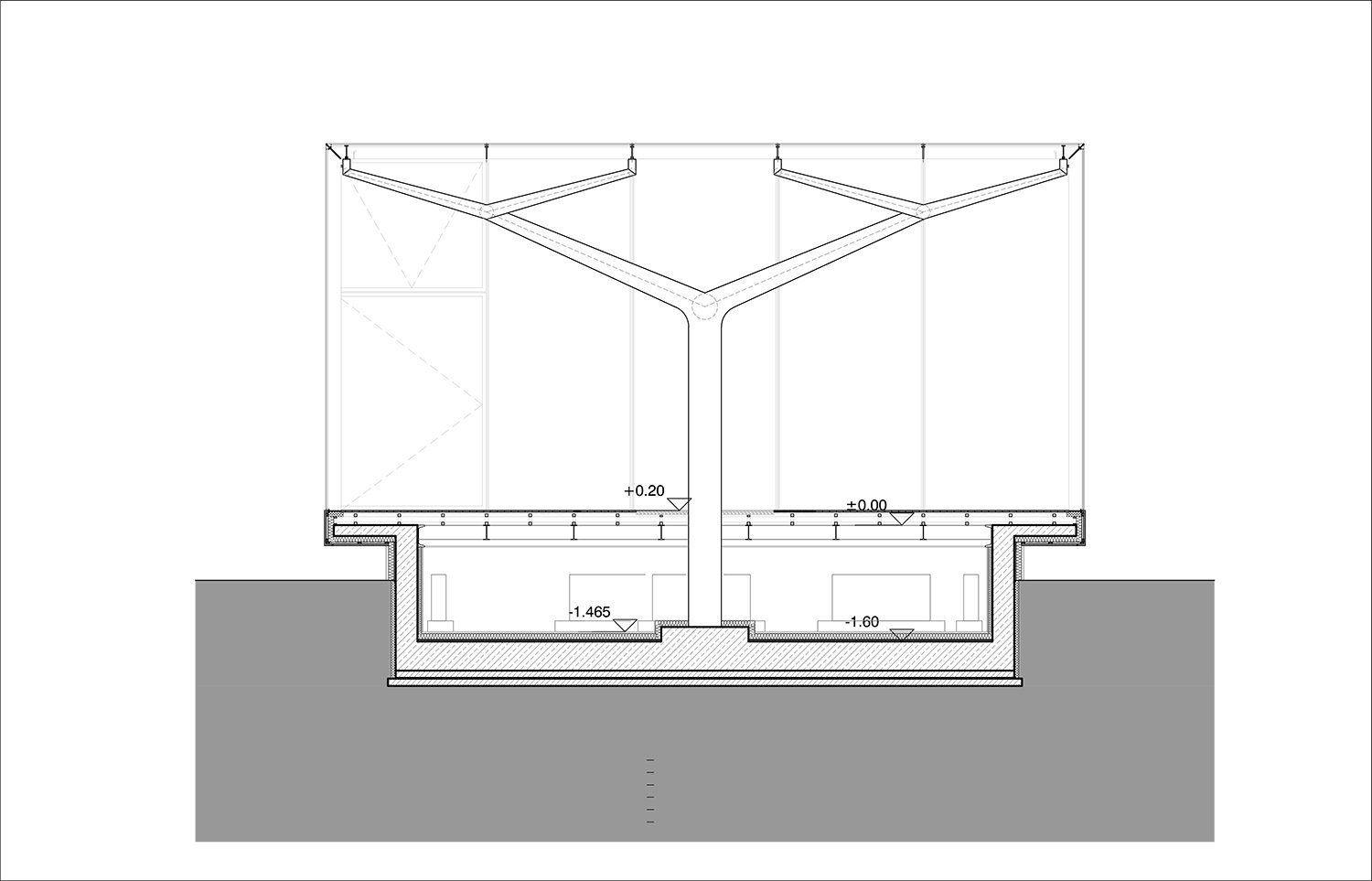 GLASS PAVILION - SECTION 03 YAZGAN DESIGN ARCHITECTURE}