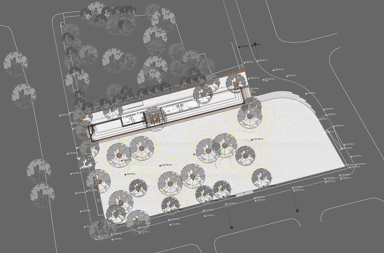 HICRI SEZEN PARK 'GLASS SQUARE' - GROUND FLOOR PLAN YAZGAN DESIGN ARCHITECTURE}