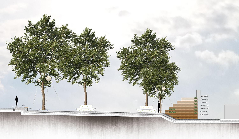 HICRI SEZEN PARK 'GLASS SQUARE' - SECTION 02 YAZGAN DESIGN ARCHITECTURE}