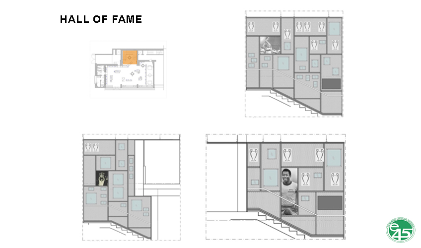 Staircase, hall of fame }
