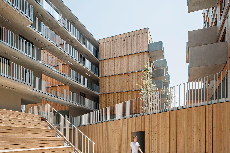 Wood Housing Seestadt Aspern, canyon © hertha hurnaus | berger+parkkinen architekten | querkraft architekten