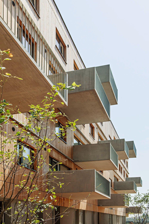 Wood Housing Seestadt Aspern, detail façade © hertha hurnaus | berger+parkkinen architekten | querkraft architekten