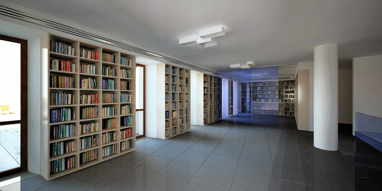 Biblioteca (render) }