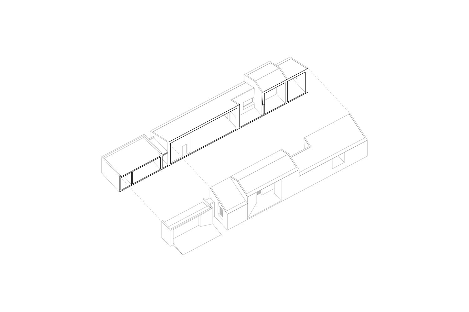 Exploded isometric view }