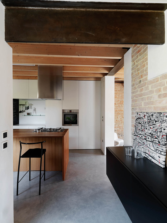 Cucina e living si fondono Adriano Pecchio