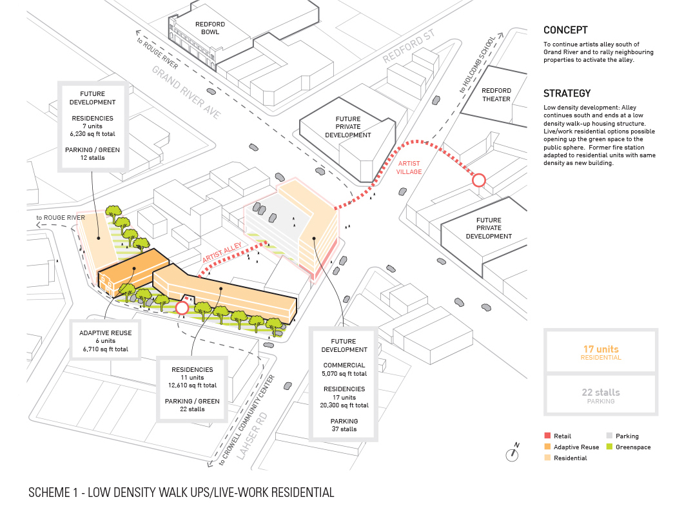 Low density walk ups/live - walk residential © Lorcan O'Herlihy Architects [LOHA] }