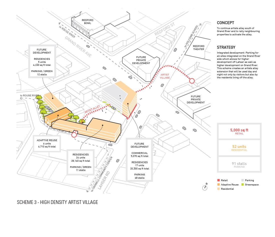 High density Artiast Village © Lorcan O'Herlihy Architects [LOHA] }