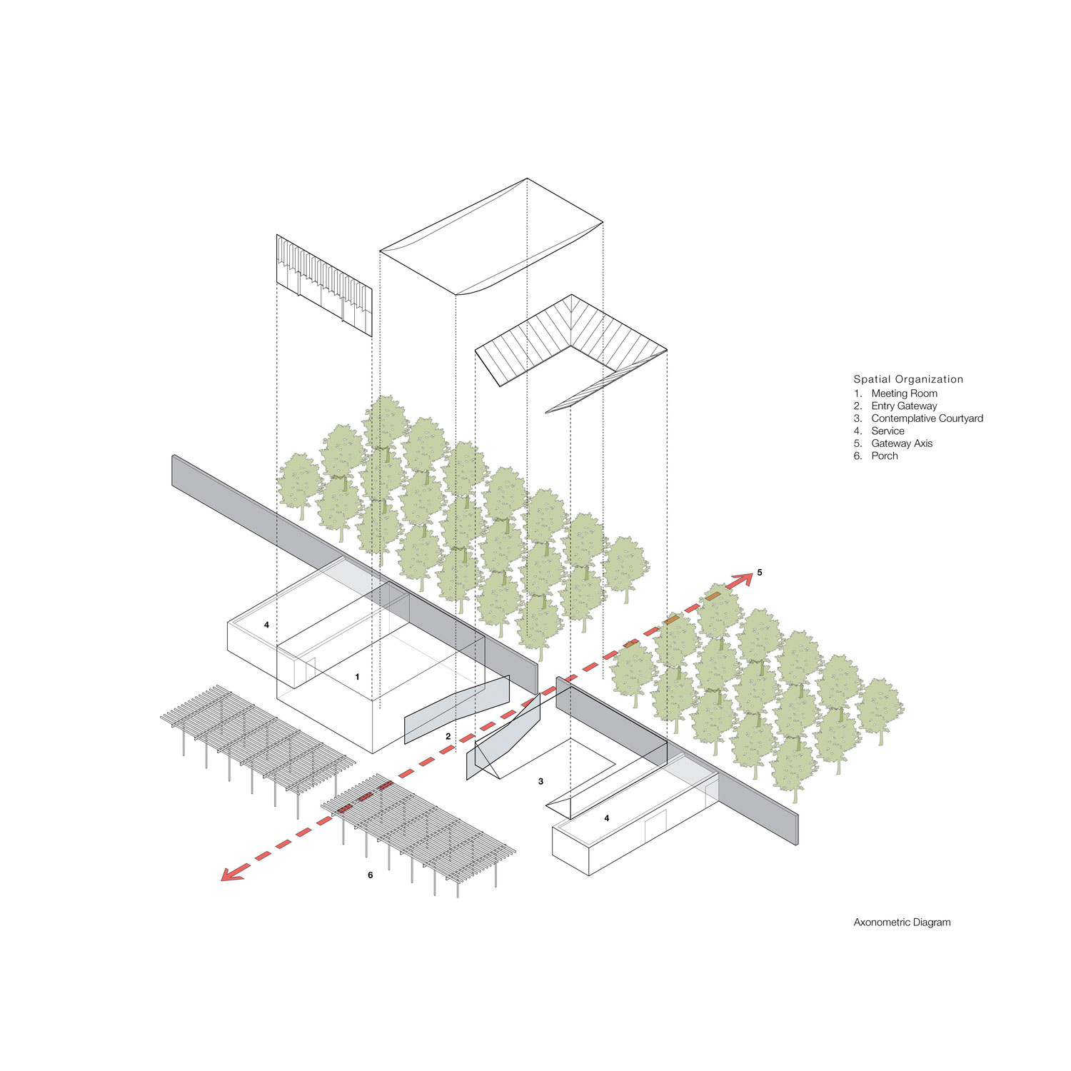 Axonometric Diagram Bohlin Cywinski Jackson}