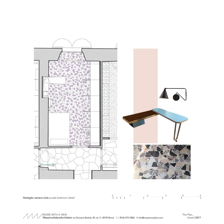 purple bedroom detail }