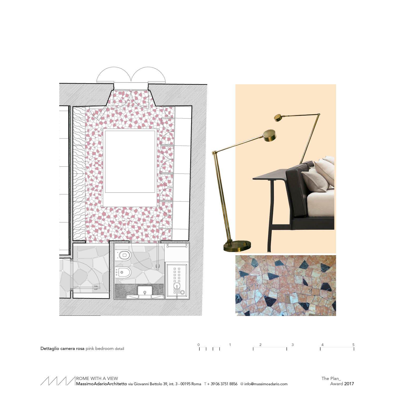 pink bedroom detail }