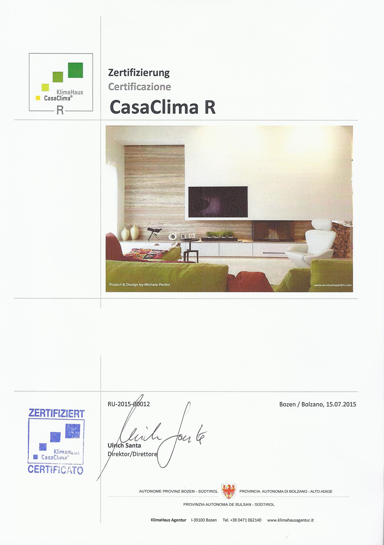 Certificato CasaClima }