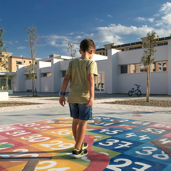 """Social Ground"" - Piazza Filippo Hackert in Bisceglie (Italy)"
